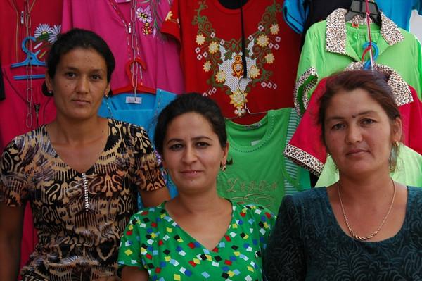 Serious Clothing Vendors - Khiva, Uzbekistan