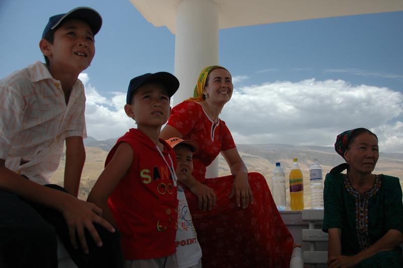 People Resting at Walk of Health in Ashgabat, Turkmenistan