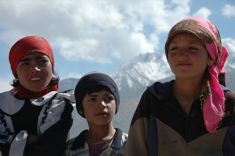 Pamiri Kids as Guides in Vrang - Pamir Mountains, Tajikistan