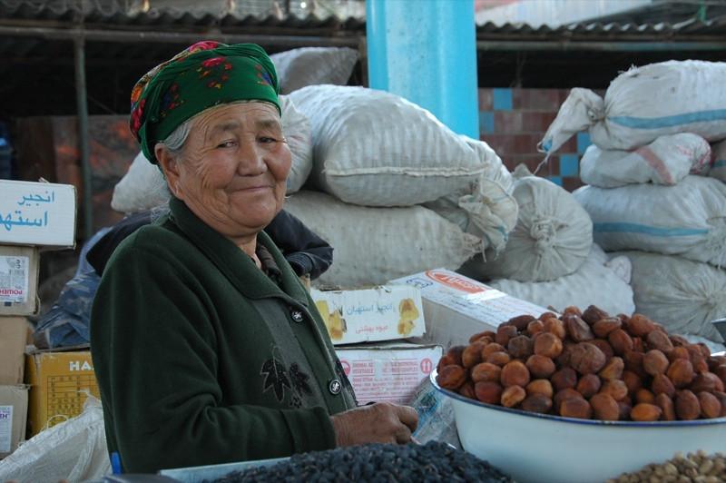 Dried Fruit Vendor at Osh Market, Kyrgyzstan