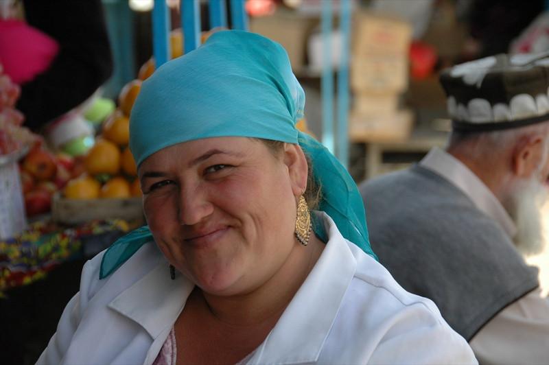 Tajik Woman, a Warm Smile - Dushanbe, Tajikistan