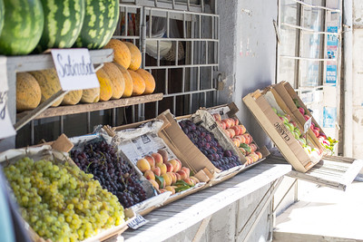 Fruit seller in Baku, Azerbaijan