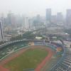 View over Chengdu from the Club Lounge