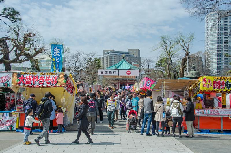 Street food at Ueno Park, Tokyo