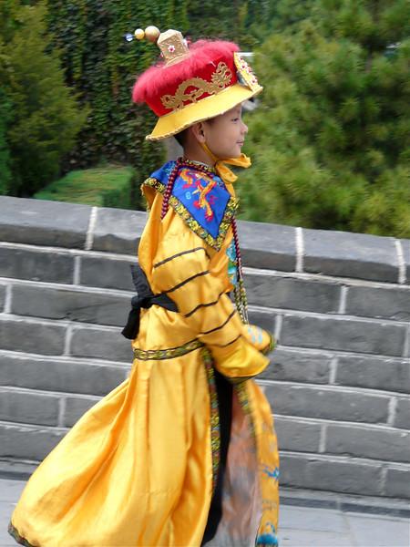 Celebrating a birthday at the Great Wall of China