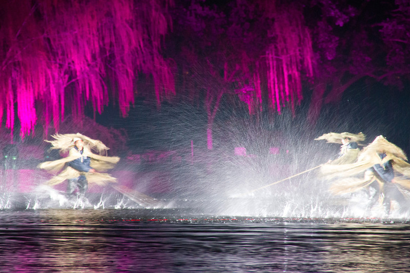 Impression West Lake water show in Hangzhou, China.