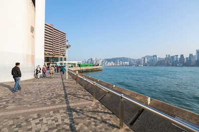 Avenue of Stars (星光大道) (off in the distance). Victoria Harbour - Hong Kong, China S.A.R. (香港特区)