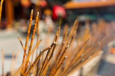 Incense. Wong Tai Sin Temple (黄大仙祠) - Hong Kong, China S.A.R. (香港特区)