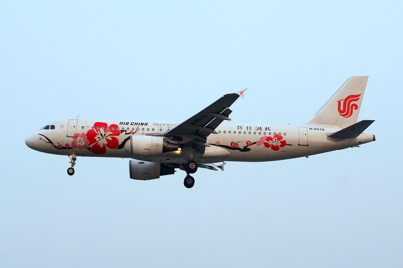"""B-6610 Airbus A320-214 c/n 3221 Beijing-Capital/ZBAA/PEK 09-11-12 """"Splendid Hebei"""""""