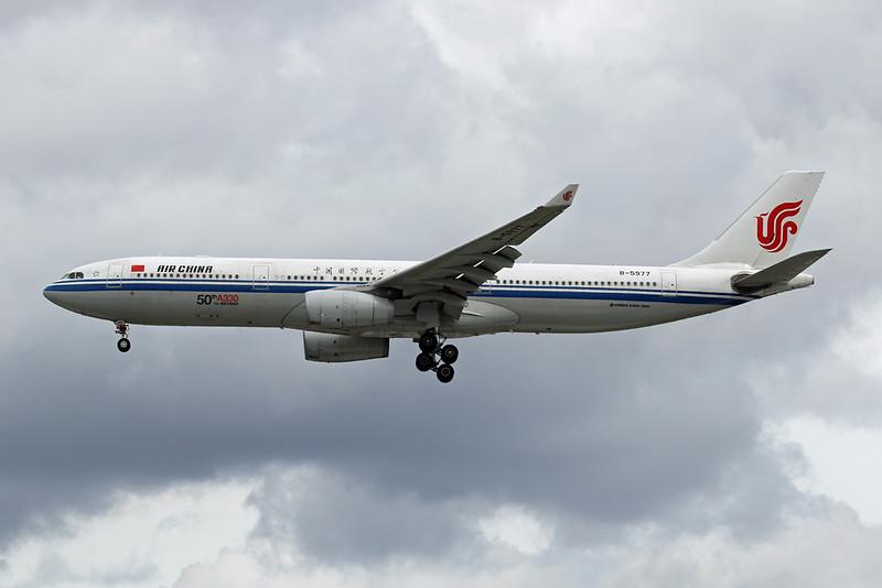 """B-5977 Airbus A330-343E c/n 1658 Heathrow/EGLL/LHR 21-07-19 """"50th A330 for Air China"""""""