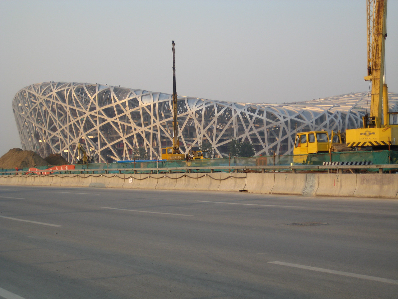 One of the 2008 Olympics buildings as it was being built.