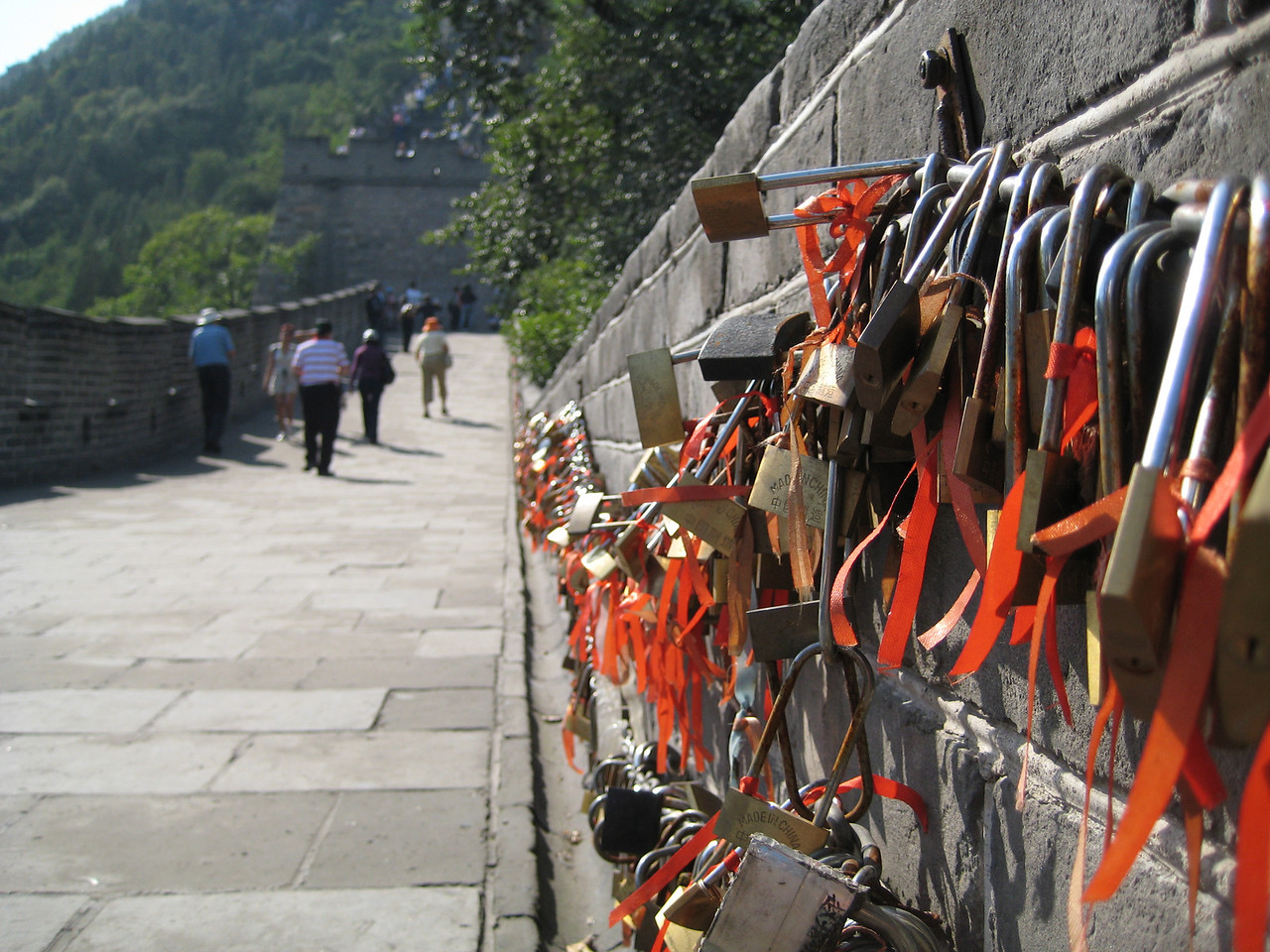 """Love Locks"" on the Juyongguan Pass section of the Great Wall."