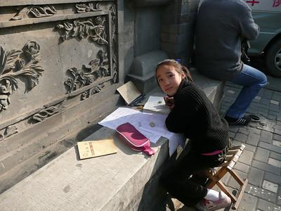 studying, 2010,Beijing, China