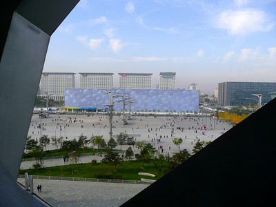 The Olympic Pool from Beijing BirdNest Olympic Stadium , 2010