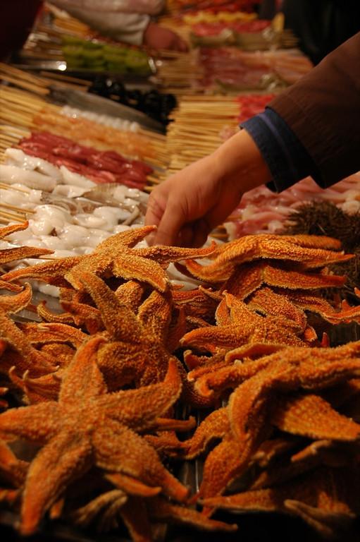 Fried Starfish Street Food - Beijing, China