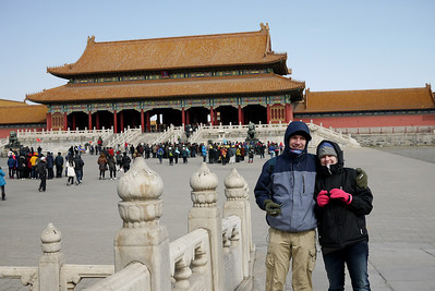 At the Forbidden City in Beijing, China.