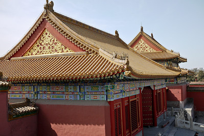 Rooftops at the Forbidden City in Beijing, China.