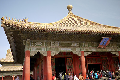Green Temple at the Forbidden City in Beijing, China.