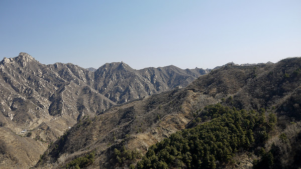 Gorgeous views of the mountains around the Great Wall from the cable car up the side of the mountain.