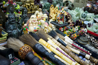 The knickknacks and fun souvenirs lining the streets and markets throughout Beijing, China.
