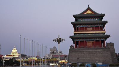 Llama Temple in tiananmen square, Beijing, China.