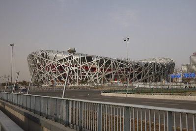 The Bird's Nest at the Olympic Complex n Beijing, China.