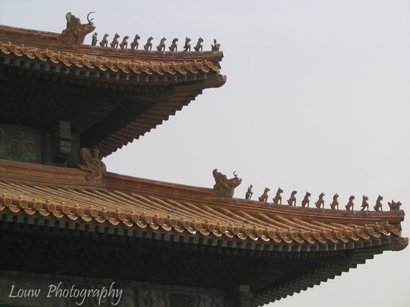 9 mythical animals, and double roof -- important building!