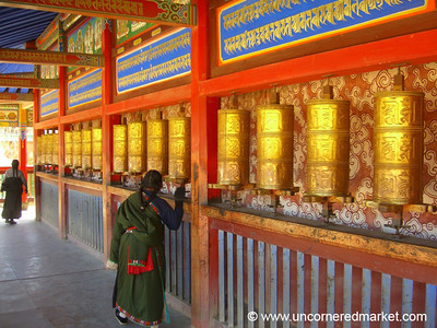 Prayer Wheel Rituals - Xiahe, China