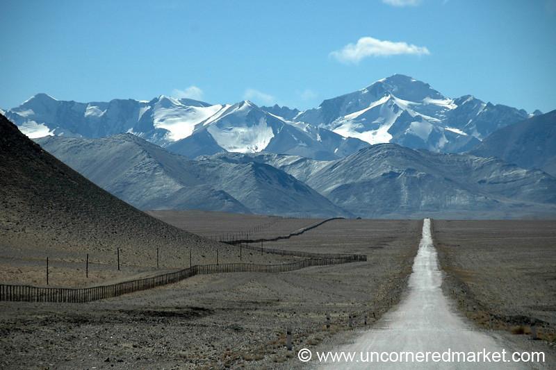 View of China from Pamir Highway, Tajikistan