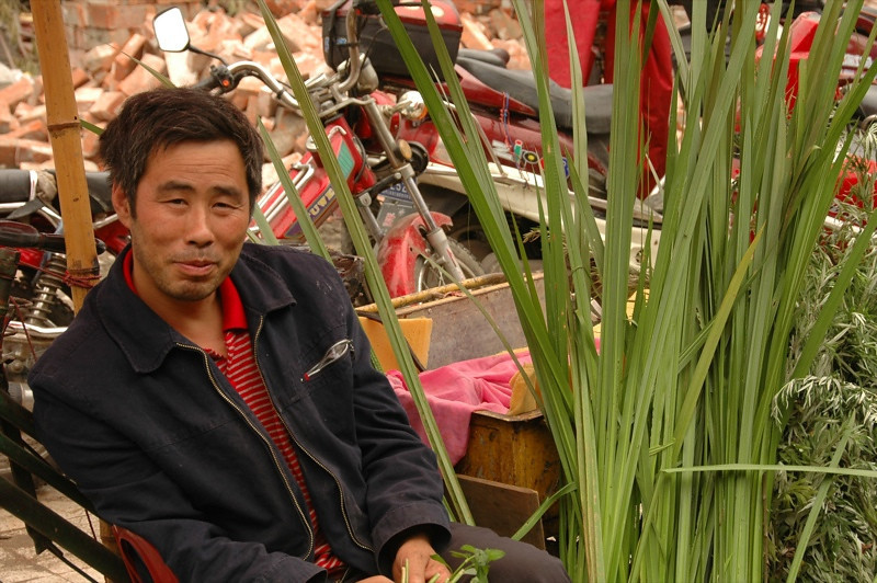 Flower and Vegetable Vendor - Chengdu, China