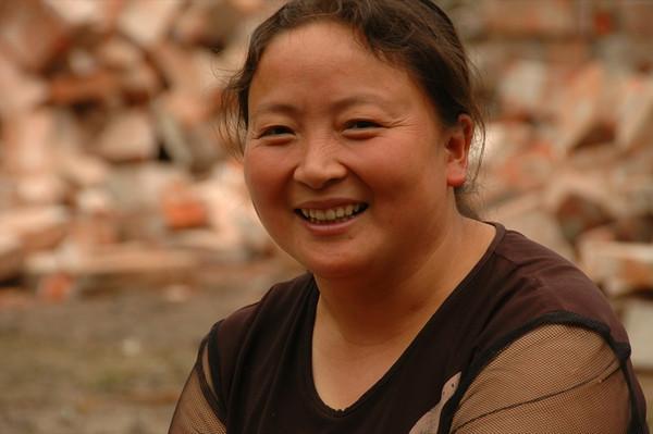 Chinese Woman, Beautiful Smile - Chengdu, China
