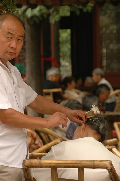Teahouse Ear Cleaning - Chengdu, China
