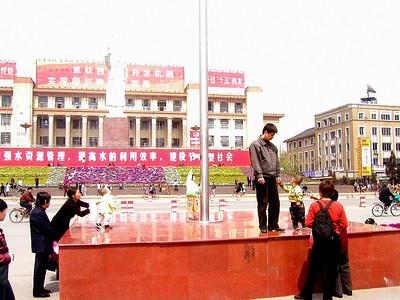 Chengdu main square March 2002