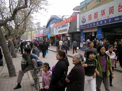 Chengdu Mobile phone market March 2002... if your brand is not here, you do not exist.