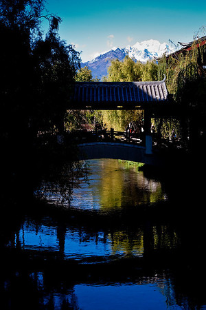 View of Jade Dragon Snow Mountain from Lijiang