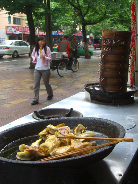Fried Dumplings at Street Restaurant - Kaili, China
