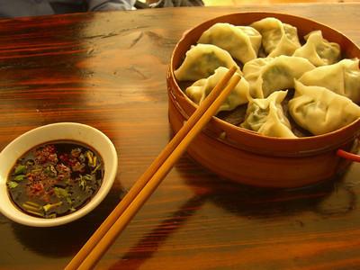 Chinese Dumplings with Sauce - Kunming, China