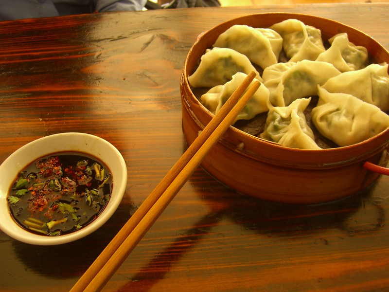 Chinese Dumplings with Sauce - Kunming, China