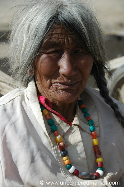 Older Tibetan Woman - Xiahe, China
