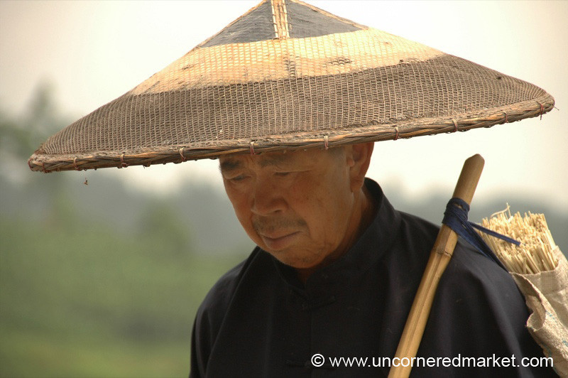 Chinese Wide-Brimmed Hat - Guizhou Province, China