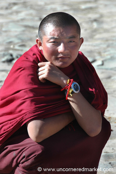 Novice Tibetan Monk - Xiahe, China