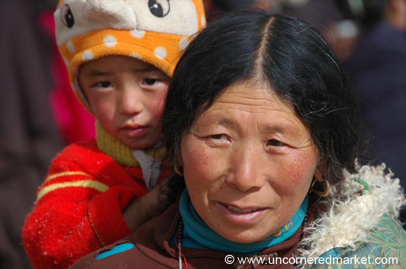 Tibetan Mother and Child - Xiahe, China