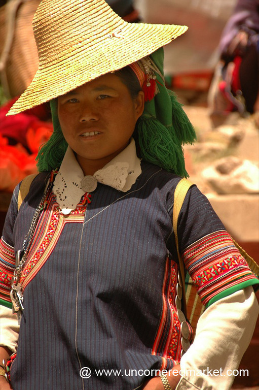 Hani Woman in Hat - Yuanyang, China
