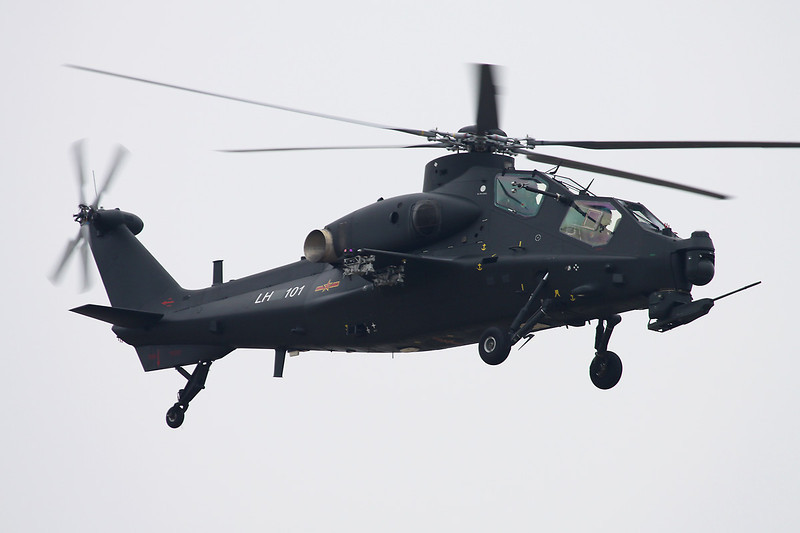 """LH96101 Changhe WZ-10 """"Peoples Liberation Army Air Force"""" c/n unknown Zhuhai/ZGSD/ZUH 16-11-12"""