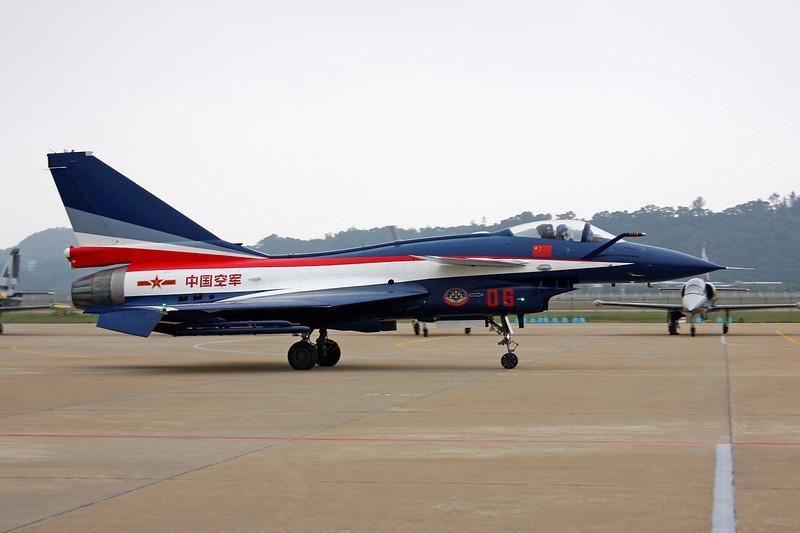 "06 Chengdu J-10AY ""Peoples Liberation Army Air Force"" c/n J10AY0513 Zhuhai/ZGSD/ZUH 16-11-12 ""Ba Yi Display Team"""