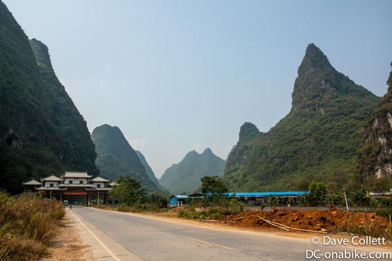 Road outside of Yangshuo