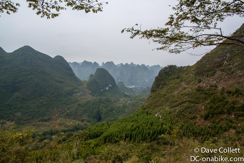 Looking down to the Li River