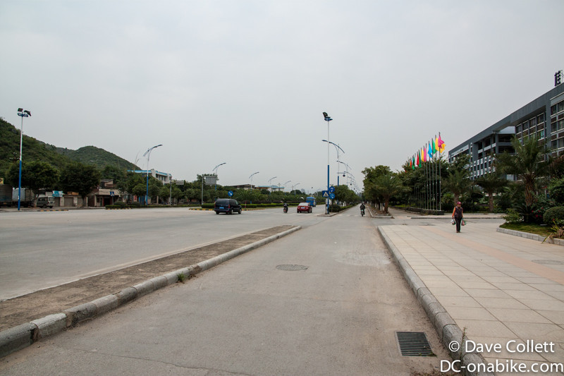 Leaving Guilin- it wasn't usually this quiet!