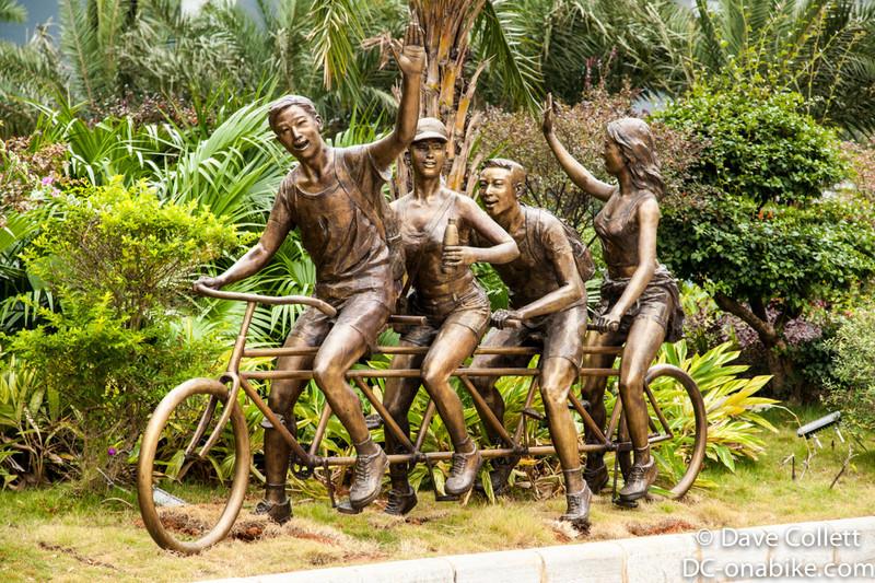 Interesting street-side sculpture