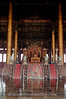 Beijing - Forbidden City - Emperors Throne in Hall of Supreme Harmony